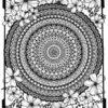 Tableau mandala grand format découpe de papier
