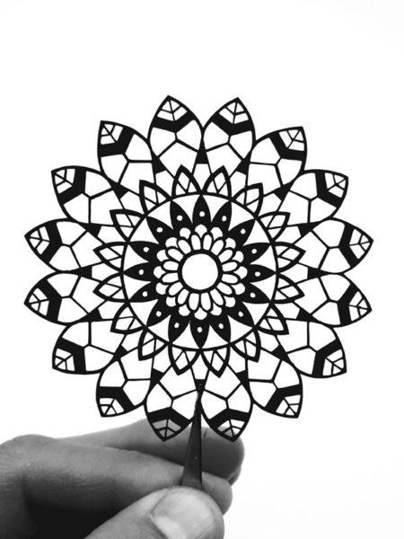 Cadre mandala fait main créateur