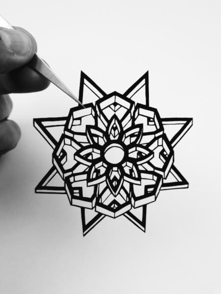 mandala 3D découpe de papier